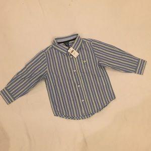 NWT BABYGAP Boys Striped Shirt Size 3 Yrs